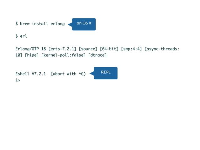 1> X = 5. 5 2> X. 5 3> X = X * 2. ** exception error: no match of right hand side value 10 4> 5 = 10. ** exception error: ...
