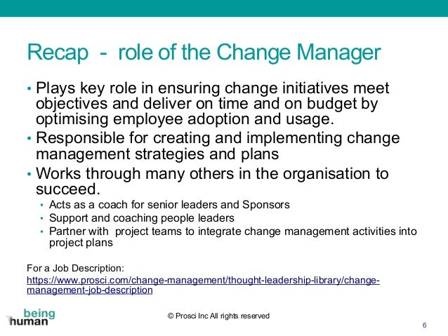 Community of Practice Webinar - What makes a good (or great) change m…