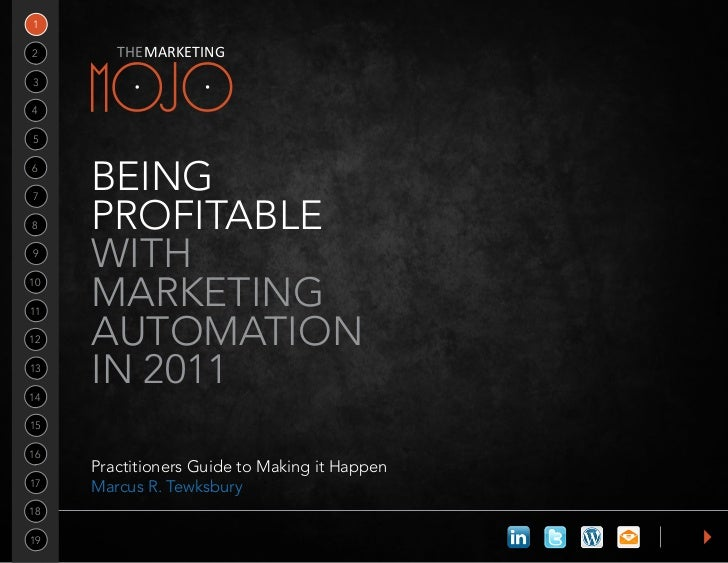 12       THE MARKETING34567     Being8    ProfitaBle9     With1011     Marketing12   autoMation1314     in 20111516     Pr...