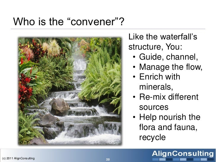 Who is the ―convener‖?                                 Like the waterfall's                                 structure, You...