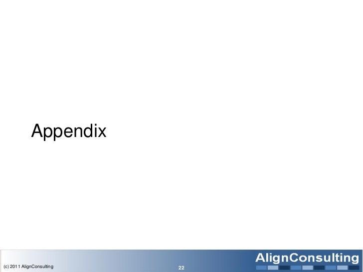 Appendix(c) 2011 AlignConsulting   22