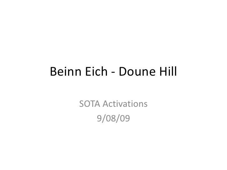 BeinnEich - Doune Hill<br />SOTA Activations<br />9/08/09<br />