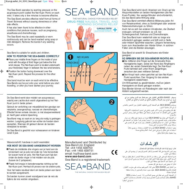 9LangLeaflet_04_2010_NewStyle.qxd Cyan Mag Yellow Black         The Sea-Band operates by exerting pressure on the         ...