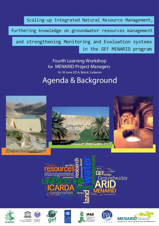 Fourth Learning Workshop for MENARID Project Managers 16-18 June 2014, Beirut, Lebanon Agenda & Background UNESCO Series o...