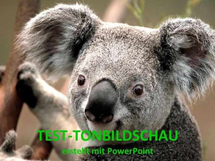TEST-TONBILDSCHAU   erstellt mit PowerPoint