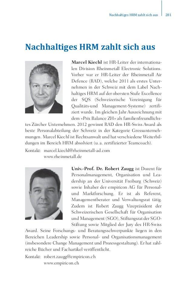 ƒ…ŠŠƒŽ–‹‰‡•œƒŠŽ–•‹…Šƒ—• ʹͺͳ  Nachhaltiges HRM zahlt sich aus  Marcel Kiechl ist HR-Leiter der internationa-len  Division R...