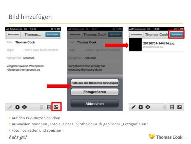 """Bild hinzufügen  • Auf den Bild-Button drücken • Auswählen zwischen """"Foto aus der Bibliothek hinzufügen"""" oder """"Fotografier..."""