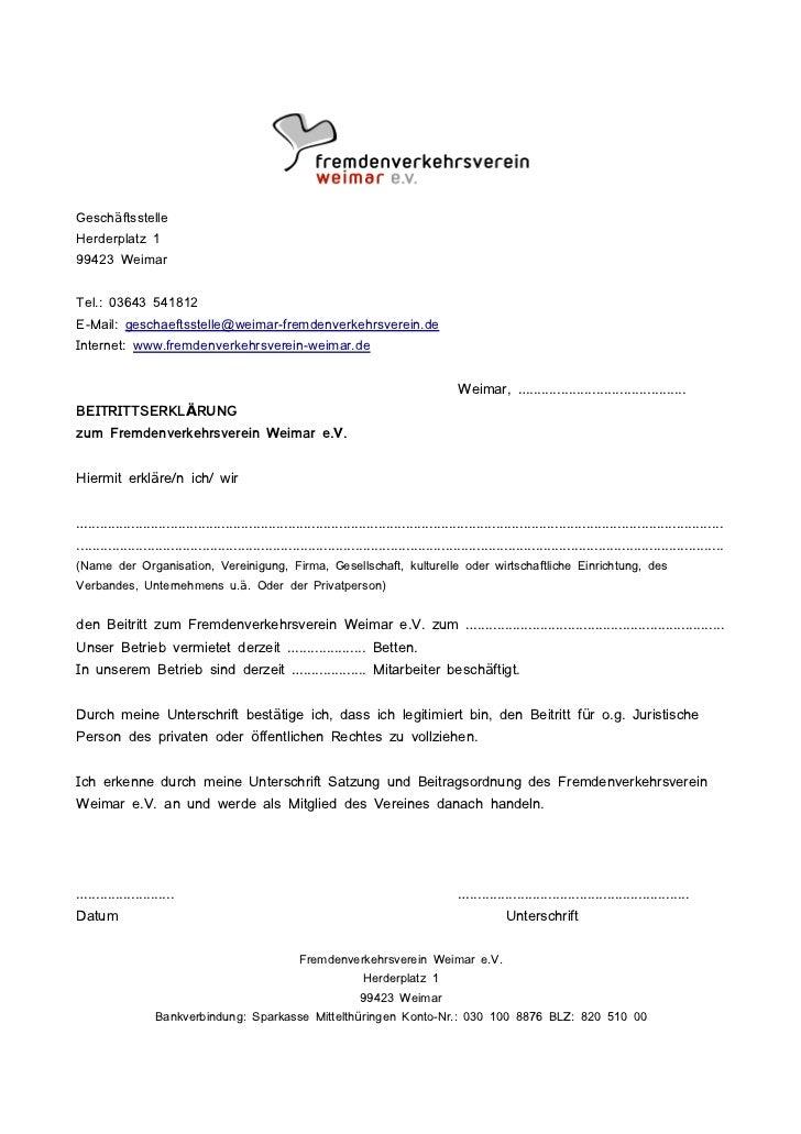 GeschäftsstelleHerderplatz 199423 WeimarTel.: 03643 541812E-Mail: geschaeftsstelle@weimar-fremdenverkehrsverein.deInternet...