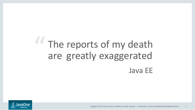 Java EE Next - BeJUG JavaOne Afterglow 2016 Slide 3