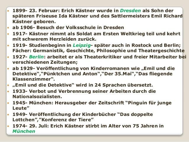 knigsbrcker strae in der albertstadt 4 - Erich Kastner Lebenslauf
