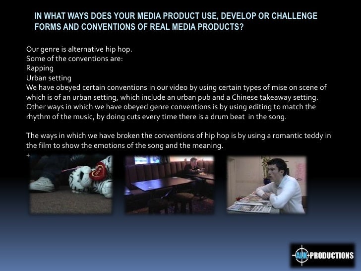 In what ways does your media product use, develop or challenge forms and conventions of real media products? <br />Our gen...