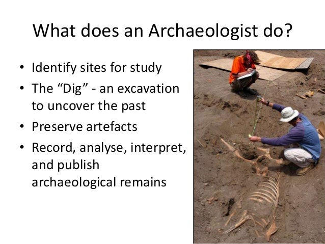 Dating methods used in an archaeological excavation 10