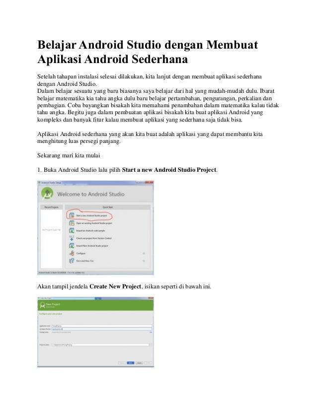 Belajar android studio dengan membuat aplikasi android ...