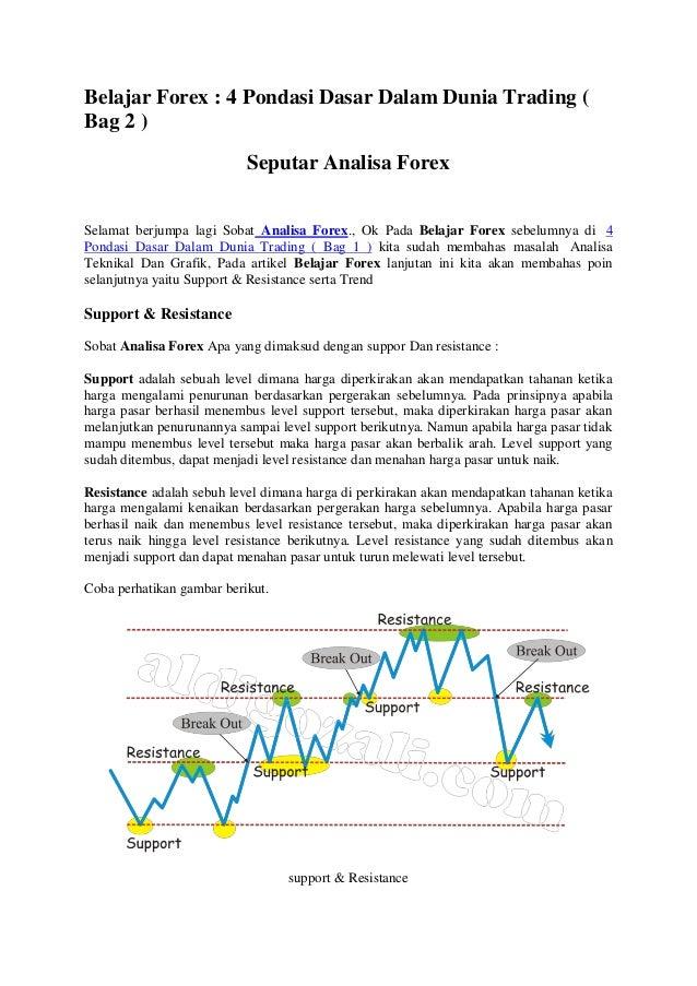Belajar Forex : 4 Pondasi Dasar Dalam Dunia Trading ( Bag 2 ) Seputar Analisa Forex Selamat berjumpa lagi Sobat Analisa Fo...