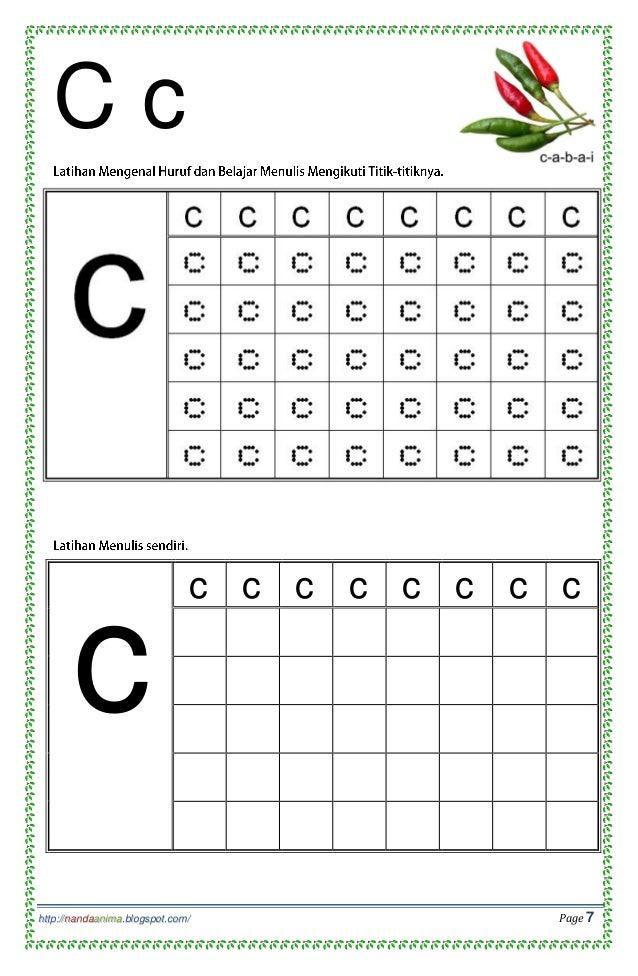 Belajar Mengenal Dan Menulis Huruf Abc