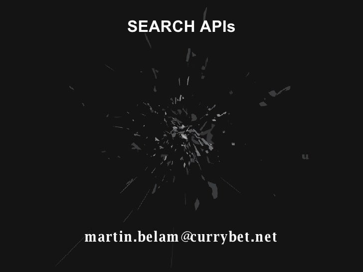 SEARCH APIs [email_address]