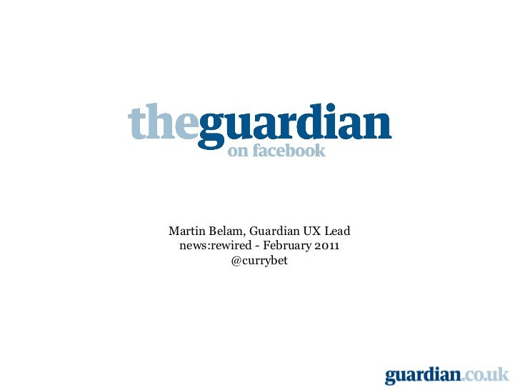 Martin Belam, Guardian UX Lead news:rewired - February 2011 @currybet