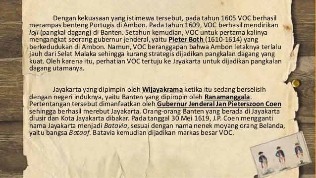 KEDATANGAN BELANDA KE INDONESIA