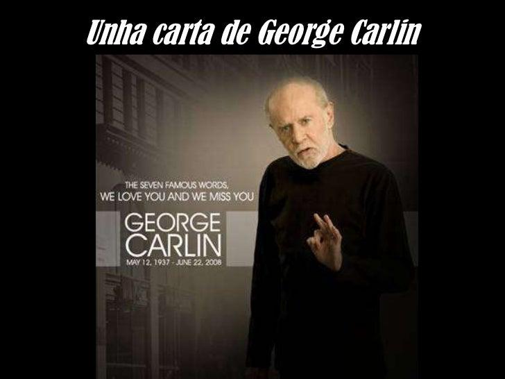 Unha carta de George Carlin