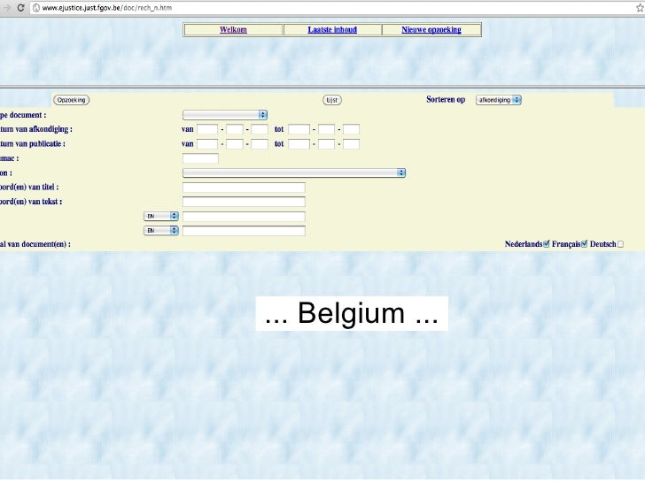 ... Belgium ...