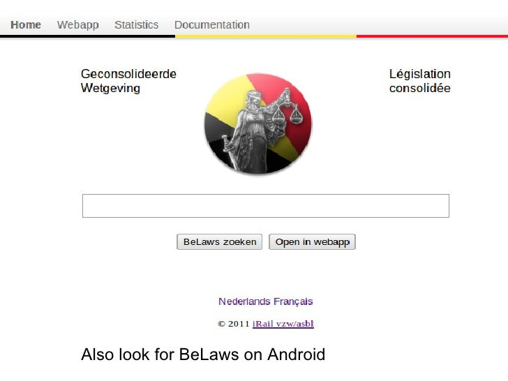 Also look for BeLaws on Android