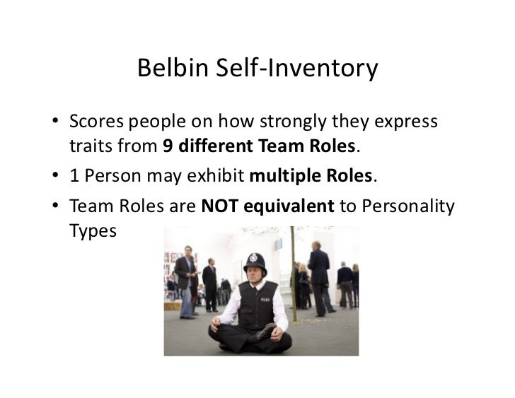 belbin team role inventory pdf