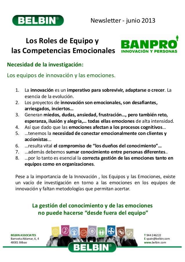 Newsletter‐ junio2013BELBINASSOCIATESBarroetaAldamar,6,448001BilbaoT 944246222E spain@belbin.comwww.belbin.comLos...