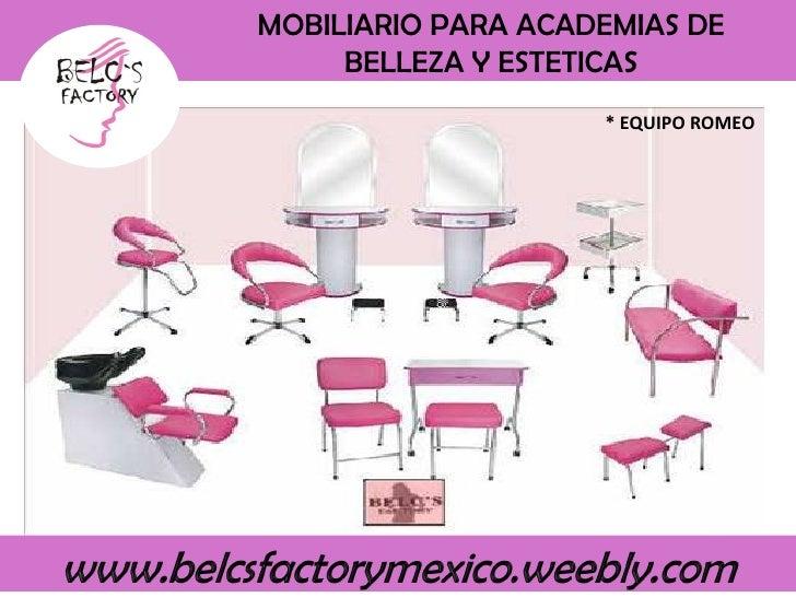 Belcs factory equipos para esteticas completo for Mobiliario y equipo