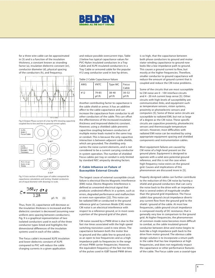 Belden ieee paper on vfd cables cable capacitance 5 for greentooth Image collections