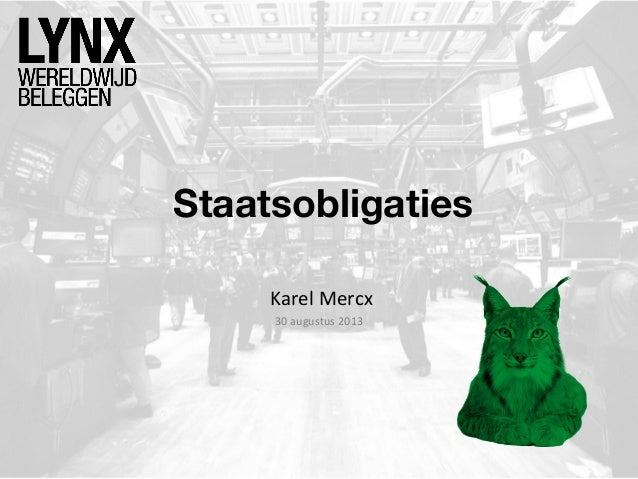 Staatsobligaties Karel Mercx 30 augustus 2013