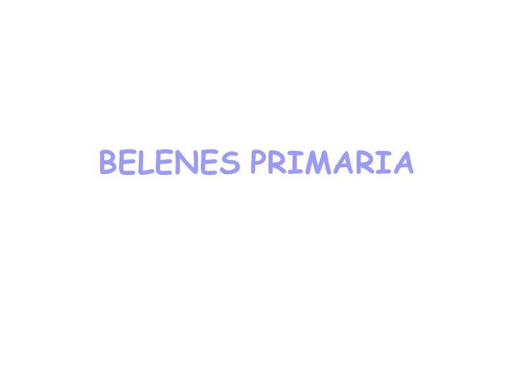 BELENES   PRIMARIA
