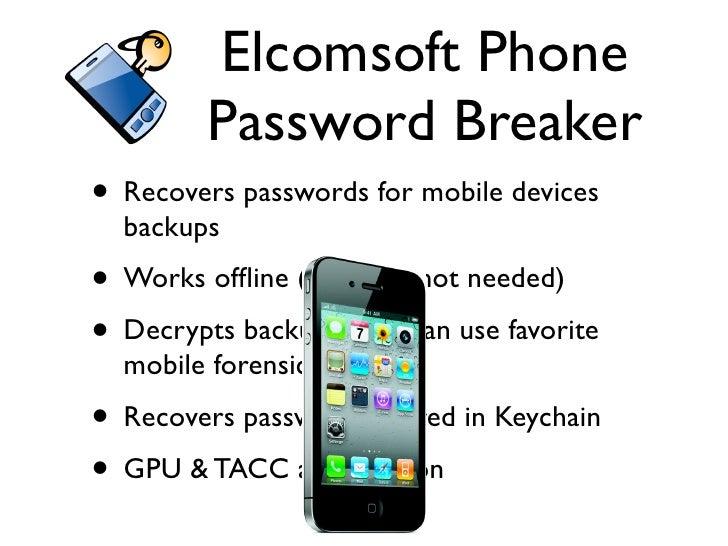 elcomsoft phone password breaker professional + key
