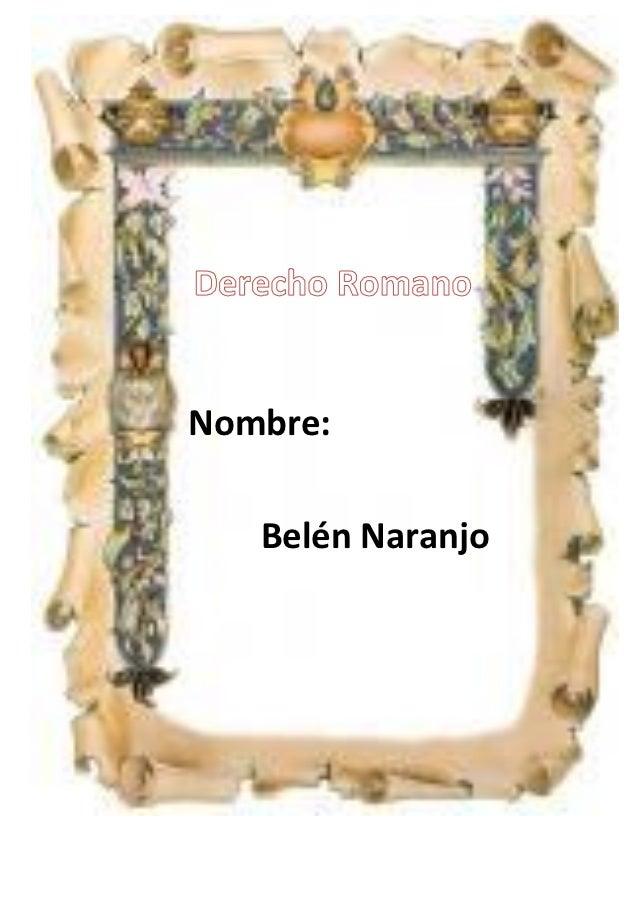 Nombre:   Belén Naranjo