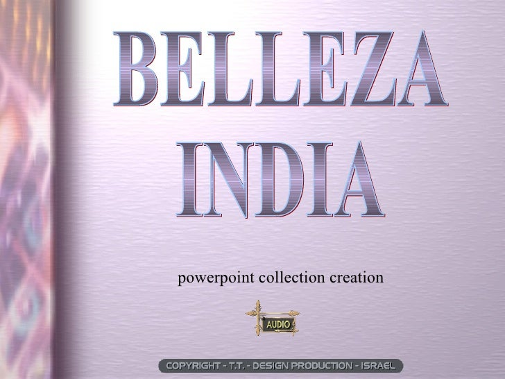 BELLEZA  INDIA powerpoint collection creation