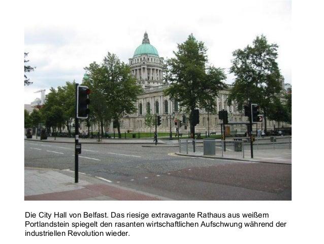 Die City Hall von Belfast. Das riesige extravagante Rathaus aus weißem Portlandstein spiegelt den rasanten wirtschaftliche...