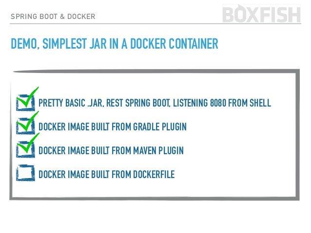 SPRING BOOT & DOCKER docker build -t hudsonmendes/api-example &&  docker push