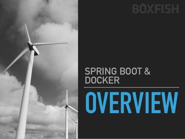 "SPRING BOOT & DOCKER OVERVIEW Source ""8 surprising facts about Docker"" (https://www.datadoghq.com/docker-adoption/)"
