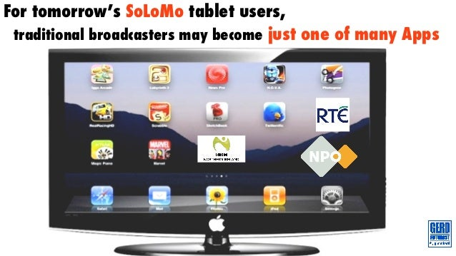 For tomorrow's SoLoMo tablet users, traditional broadcasters may become just one of many Apps