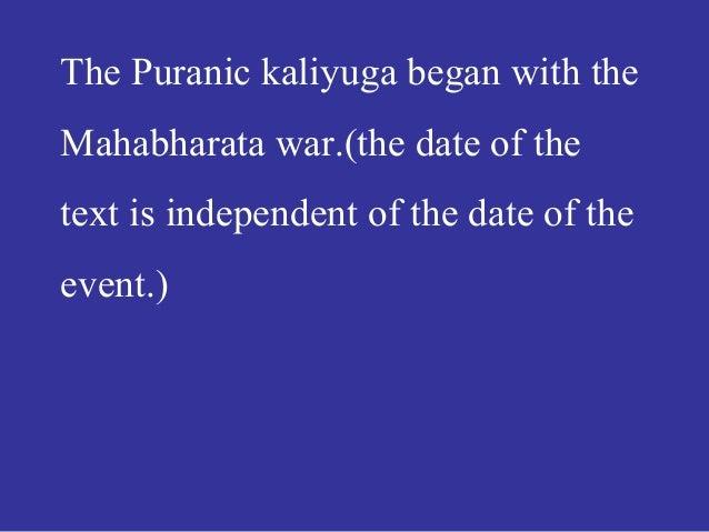 Astronomical hookup of the mahabharata war