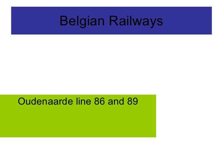 Belgian Railways Oudenaarde line 86 and 89