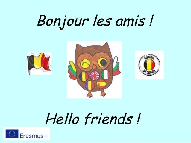 Bonjour les amis ! Hello friends !