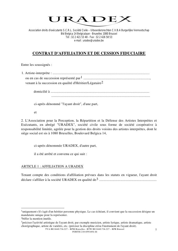 Association droits d'exécutants S.C.R.L. Société Civile – Uitvoerdersrechten C.V.B.A Burgerlijke Vennootschap             ...
