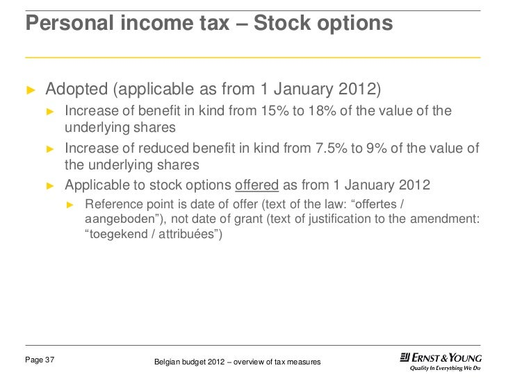 Stock options liberal budget