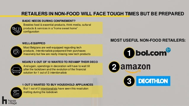 RETAILERS IN NON-FOOD WILL FACE TOUGH TIMES BUT BE PREPARED BASIC NEEDS DURING CONFINEMENT? Besides food & essential produ...