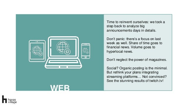 WEB Time to reinvent ourselves: we took a step back to analyze big announcements days in details. Don't panic: there's a f...