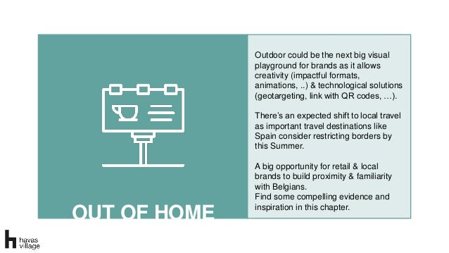 OUT OF HOME Outdoor could be the next big visual playground for brands as it allows creativity (impactful formats, animati...