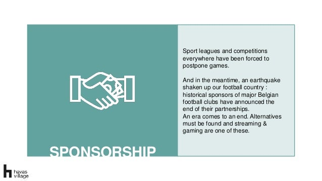 SPONSORSHIP SPONSORSHIP Sport leagues and competitions everywhere have been forced to postpone games. And in the meantime,...