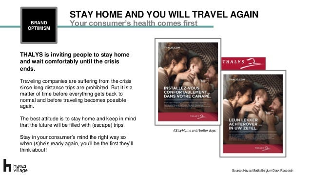 THALYS is inviting people to stay home and wait comfortably until the crisis ends. Traveling companies are suffering from ...