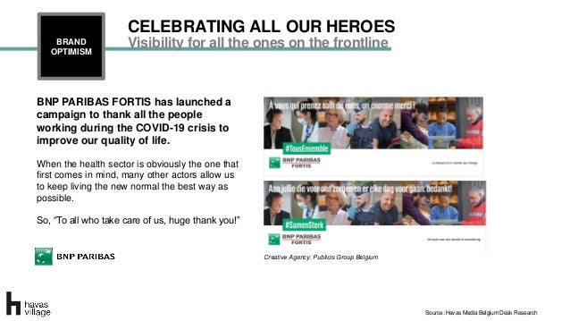 BNP PARIBAS FORTIS has launched a campaign to thank all the people working during the COVID-19 crisis to improve our quali...