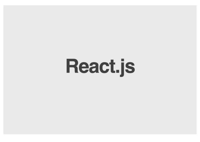 React. js